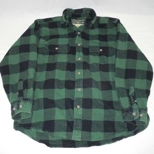 Field & Stream Green Flannel Button Up XL Heavy